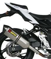 Akrapovic propose un slip-on pour la Suzuki GSR 750.