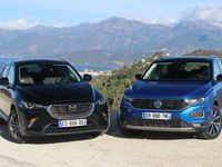 Comparatif vidéo – Mazda CX-3 vs Volkswagen T-Roc : outsider contre blockbuster