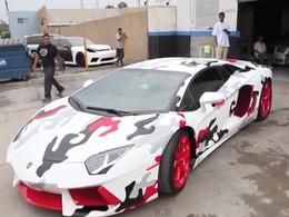 Chris Brown fait repeindre sa Lamborghini Aventador. Mauvaise idée