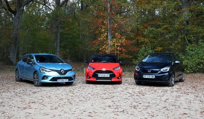 Renault Clio E-Tech vs Toyota Yaris 116h vs Honda Jazz e:HEV : quelle est la meilleure polyvalente hybride ?