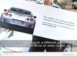 """Marketing de rue : Nissan """"offre"""" une vision d'horreur aux Porschistes (et gagne des clients)"""