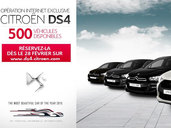 Avant-Première : 500 Citroën DS4 à vendre sur internet