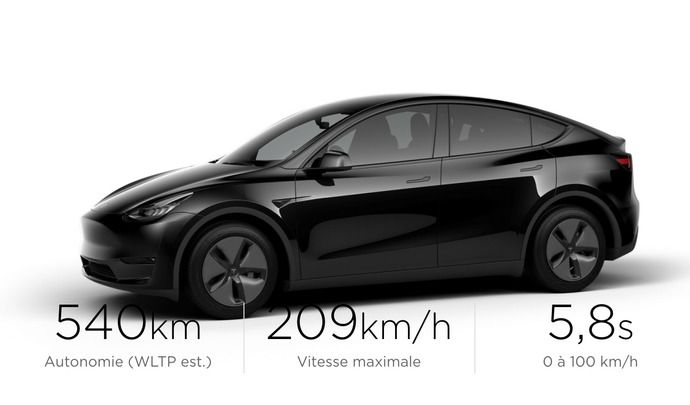 Le Tesla Model Y est disponible à la commande en France