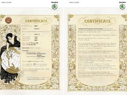 Un « acte de naissance » pour les Skoda de collection