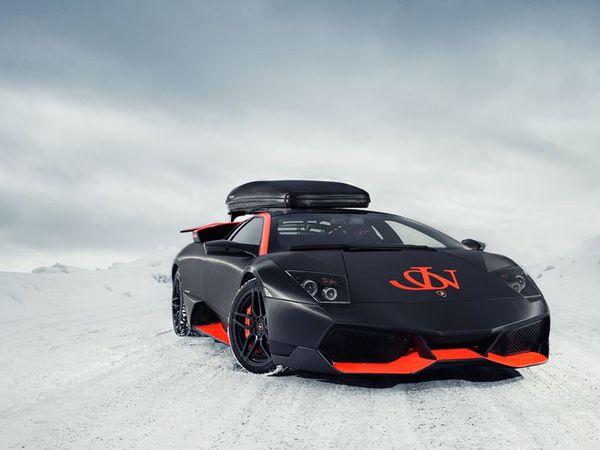 Lamborghini LP670-4 SV Winter Edition par Jon Olsson : l'hiver vraiment sport