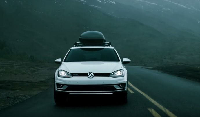 Une campagne originale pour le break Volkswagen Golf Alltrack