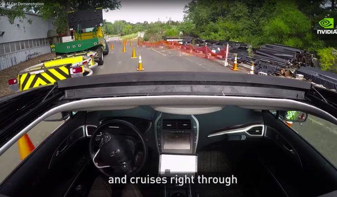 Le géant de l'informatique Nvidia montre sa voiture autonome