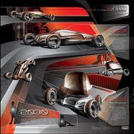 """Concours LA Design Challenge 2009 : pour Audi, des Internautes ont planché sur le thème """"Véhicule de 2030 pour jeunes"""" !"""
