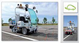 La première machine de marquage routier électrique lancée en France !