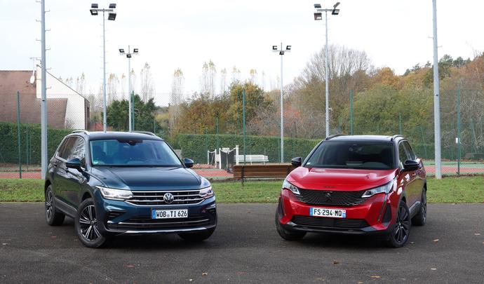 Comparatif vidéo -Volkswagen Tiguan restylé VS Peugeot 3008 restylé : le combat des chefs