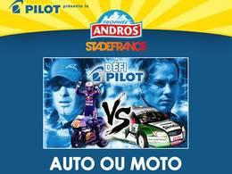 Trophée Andros au Stade de France - Auto ou moto, lequel est plus rapide?