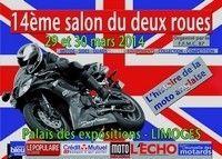 Salon de la Moto de Limoges les 29 et 30 mars 2014: l'Angleterre en invitée d'honneur.