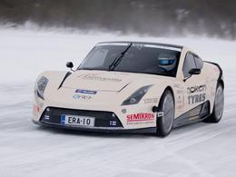 [vidéo ]L'Electric Race About s'adjuge le record de vitesse sur glace pour un véhicule électrique