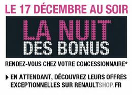 """""""La Nuit des Bonus"""" proposée par Renault"""