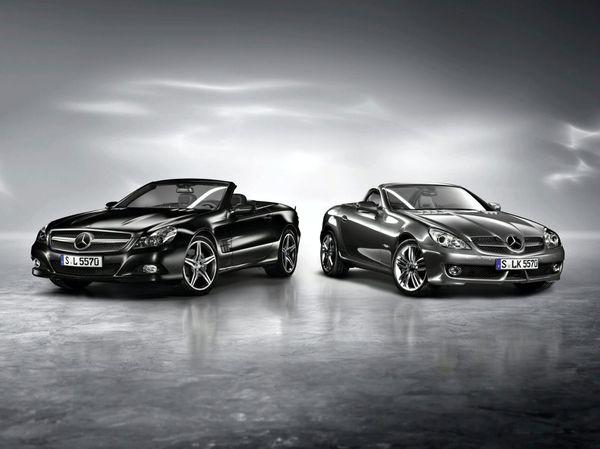 Mercedes SL Night et SLK Grand : le jour et la nuit