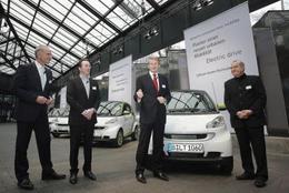 2 Smart Fortwo Electric Drive livrées à Berlin aujourd'hui