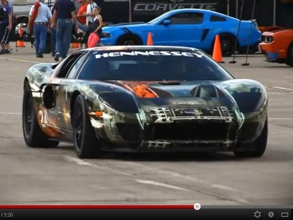 Texas Mile 2012 : une Ford GT Hennessey remporte l'épreuve à 414 km/h