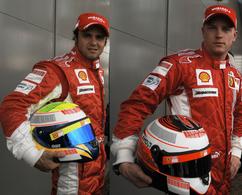 F1 Ferrari : Raïkkönen et Massa confirmés jusqu'à fin 2010