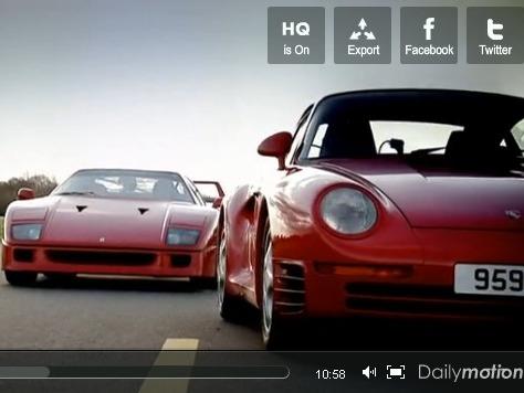 Top Gear : Ferrari F40 vs Porsche 959, le choc des légendes