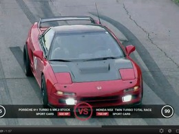 DragTimesInfo : Honda NSX Twin Turbo vs Porsche 911 Turbo S, mamy a un peu trop la pêche