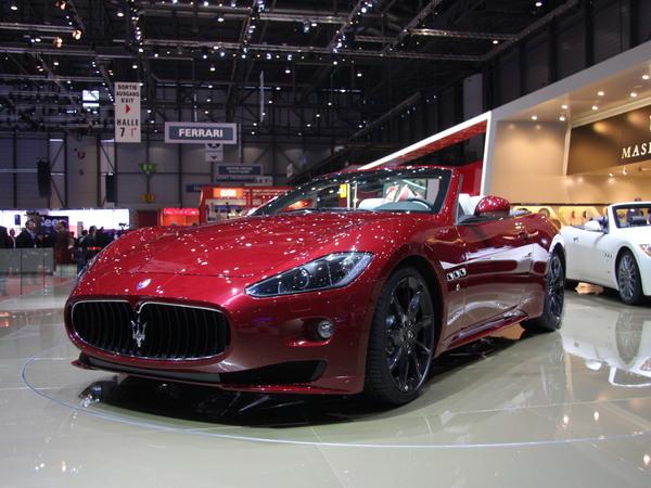 En direct de Genève : Maserati Gran Cabrio Sport