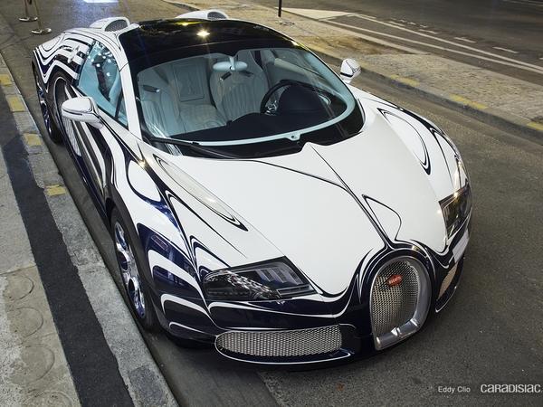 Photos du jour : Bugatti Veyron L'or Blanc