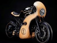 Yamaha XSR700 en bois: une œuvre d'art française