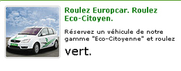 "Europcar vous propose sa gamme ""Eco-Citoyenne"""