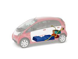 La Mitsubishi i-MiEV électrique équipée des cellules lithium-ion LEJ