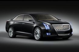 Gros plan sur le nouveau Concept hybride rechargeable Cadillac XTS Platinum