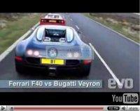 La vidéo du jour : Bugatti Veyron vs. Ferrari F40