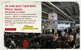 Salon Rétromobile 2010/Opération Pièces Jaunes : prenez le train Retromobile Express pour la bonne cause !