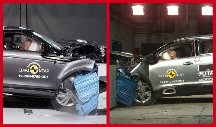 Derniers résultats Euro NCAP : 4 étoiles pour le Citroën C5 Aircross, 5 pour le Range Rover Evoque 2