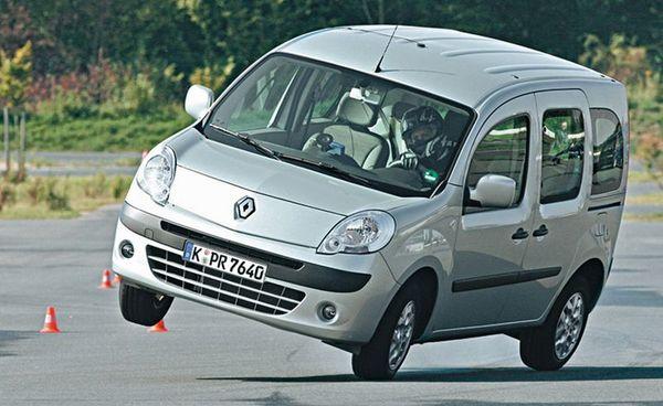 Tests ADAC : Le Renault Kangoo fait le cabri dans l'Elan