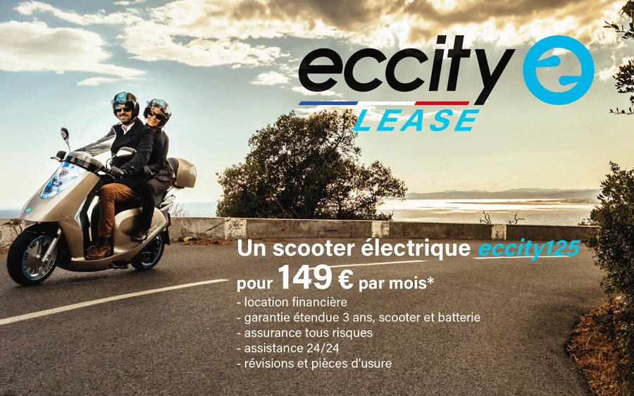 eccity propose son scooter 125 en leasing. Black Bedroom Furniture Sets. Home Design Ideas