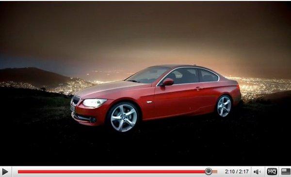 [vidéo] la BMW Série 3 E92 restylée en mouvement
