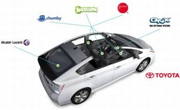 Une Toyota Prius embarque la technologie 4G/LTE signée Alcatel-Lucent