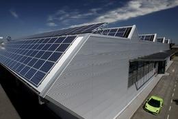 L'usine Lamborghini de Sant'Agata dotée de panneaux solaires