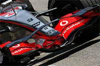 F1 : l'écurie Vodafone McLaren Mercedes utilise un nouvel aileron avant à Barcelone