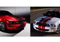 Shelby bosse dur: Mustang Red Stripe et Super Snake