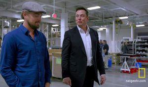 Leonardo DiCaprio parle changement climatique avec Elon Musk, patron de Tesla