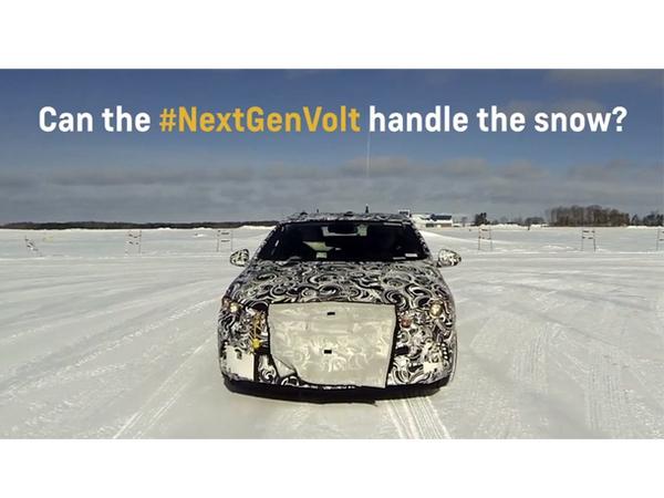 [video] La nouvelle Chevrolet Volt teasée une dernière fois dans la neige