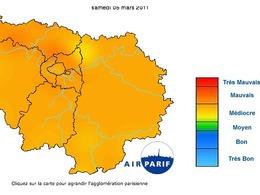 La pollution aux particules est particulièrement élevée actuellement en Ile de France