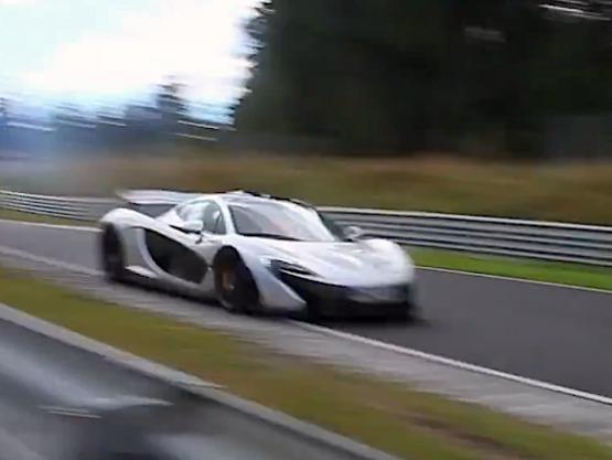 Surprise en vidéo : la McLaren P1 siffle sur le Nürburgring