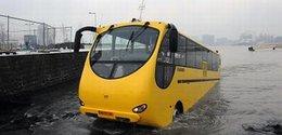 Un bus amphibie testé en Écosse !