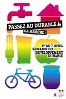 La Semaine du développement durable aura lieu du 1er au 7 avril 2010
