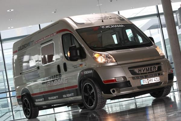 hymer goldschmitt le camping car le plus rapide du monde. Black Bedroom Furniture Sets. Home Design Ideas