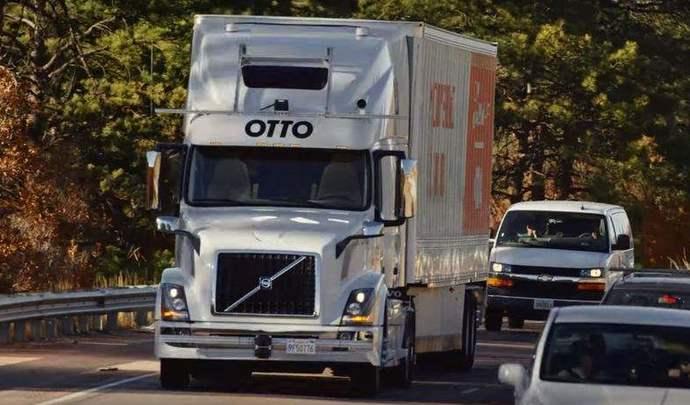 Uber livre déjà avec le camion autonome