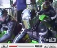 Vidéo moto : manège à motard