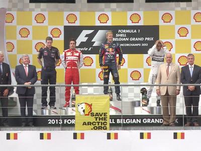 Formule 1 - Grand Prix de Belgique : le joli coup de Greenpeace